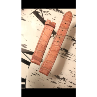 ショパール(Chopard)のショパール ハッピースポーツ   クロコダイル レザーベルト 12/14 ピンク(腕時計)