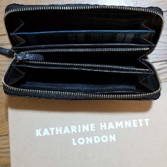 KATHARINE HAMNETT(キャサリンハムネット)のキャサリンハムネット ラウンドファスナー長財布 本革 メンズのファッション小物(長財布)の商品写真