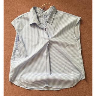 ジーユー(GU)のノースリーブ ストライプシャツ(シャツ/ブラウス(半袖/袖なし))