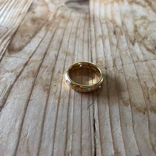 ティファニー(Tiffany & Co.)のティファニー ドッツ リング k18 イエローゴールド リング(リング(指輪))