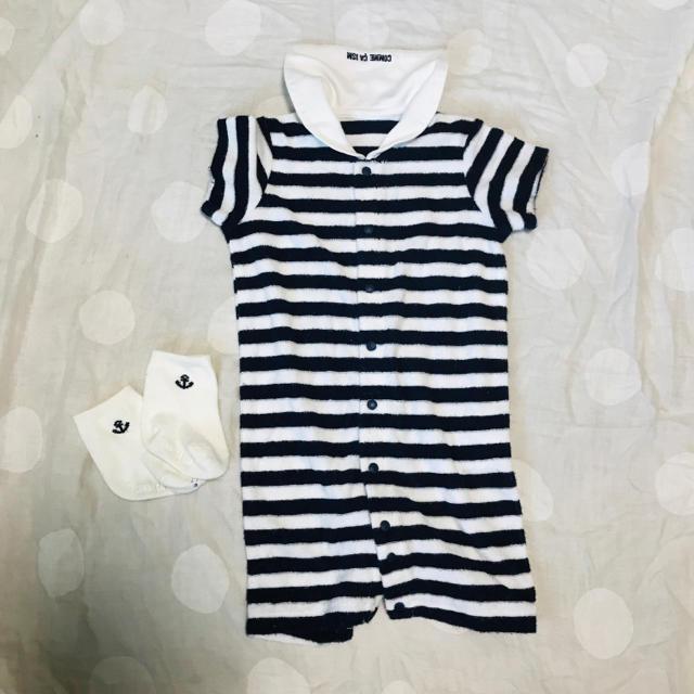 COMME CA ISM(コムサイズム)のコムサイズム カバーオール 靴下付き キッズ/ベビー/マタニティのベビー服(~85cm)(カバーオール)の商品写真