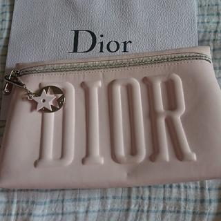 ディオール(Dior)のディオール ポーチ  チャーム付クラッチバッグ☆ノベルティ(クラッチバッグ)