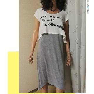 イング(INGNI)のショートTシャツ&ワンピース(ロングワンピース/マキシワンピース)