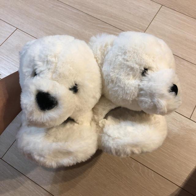WEGO(ウィゴー)の新品 wego くまちゃん ぬいぐるみ ファー サンダル Lサイズ ホワイト レディースの靴/シューズ(サンダル)の商品写真