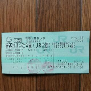 18きっぷ 3回(鉄道乗車券)