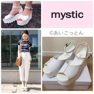 ミスティック(mystic)のrina様♡今季完売厚底スポサン♡白37(サンダル)