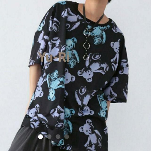 FUNKY FRUIT(ファンキーフルーツ)の★ブルー⭕再入荷⭕⭐️ドラハニ スケルトンテディ 総柄Tシャツ レディースのトップス(Tシャツ(半袖/袖なし))の商品写真