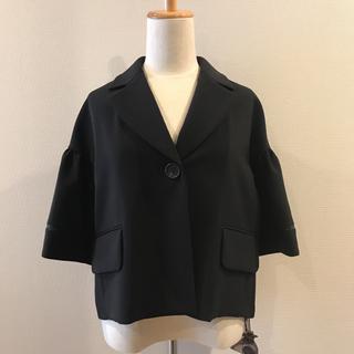 【新品未使用】foxey フォクシー ジャケット 5分袖 ブラック