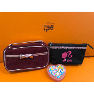 1点❗新品未使用化粧ポーチアクセサリーポーチマルチケース収納ボックス赤紺色ピンク(メイクボックス)