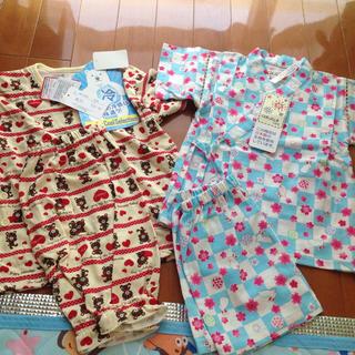 シマムラ(しまむら)のパジャマ 甚平 90 女の子 新品 セット 冷感 夏物(甚平/浴衣)