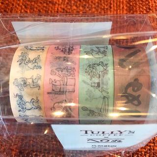 タリーズコーヒー(TULLY'S COFFEE)の送料込み★タリーズ 鳥獣戯画コラボ マスキングテープ かまわぬ 夏限定(テープ/マスキングテープ)