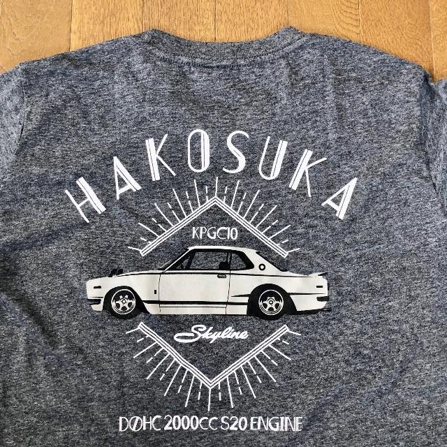日産(ニッサン)の日産 ハコスカGT-R Tシャツ Lサイズ バックプリント スカイライン グレー メンズのトップス(Tシャツ/カットソー(半袖/袖なし))の商品写真