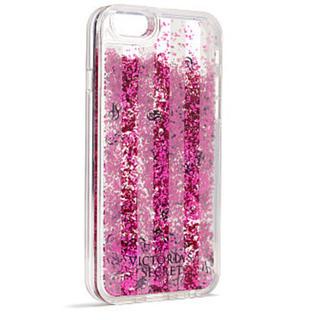ヴィクトリアズシークレット(Victoria's Secret)のヴィクシー iPhone 6/6S ケース キラキラ ピンク グリッター(iPhoneケース)