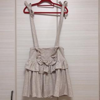 リズリサ(LIZ LISA)の【美品】LIZ LISA サスペンダー付き 秋物スカート(ミニスカート)