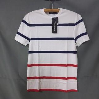 トップマン(TOPMAN)のメンズ ボーダー Tシャツ(Tシャツ/カットソー(半袖/袖なし))