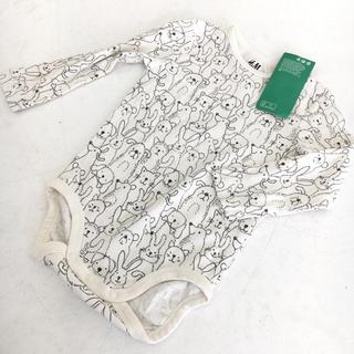 エイチアンドエム(H&M)の新品 オーガニックコットン H&M エイチアンドエム 長袖ロンパース 80(ロンパース)