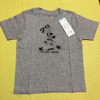 ミッキーマウス(ミッキーマウス)の新品未使用 ディズニー グンゼ ミッキーマウス半袖Tシャツ 110(Tシャツ/カットソー)