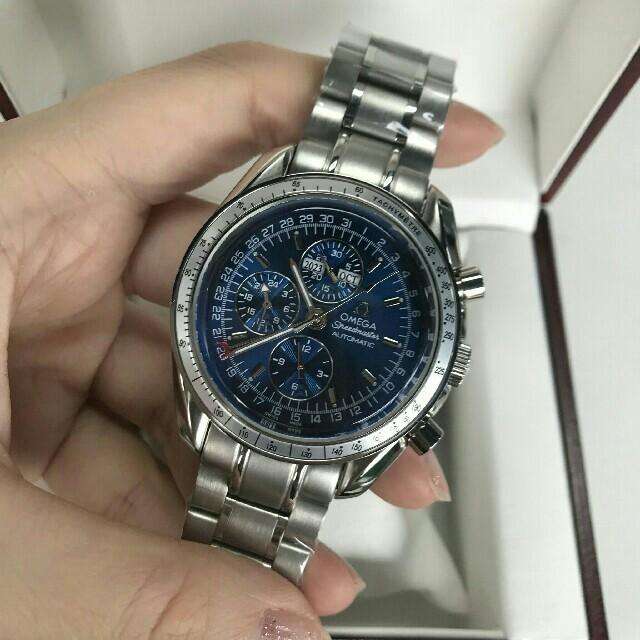 偽物ブランド 群馬県 - OMEGA - Omega オメガ スピードマスター トリプルカレンダー メンズ腕時計の通販 by 古賀 憲広 's shop|オメガならラクマ