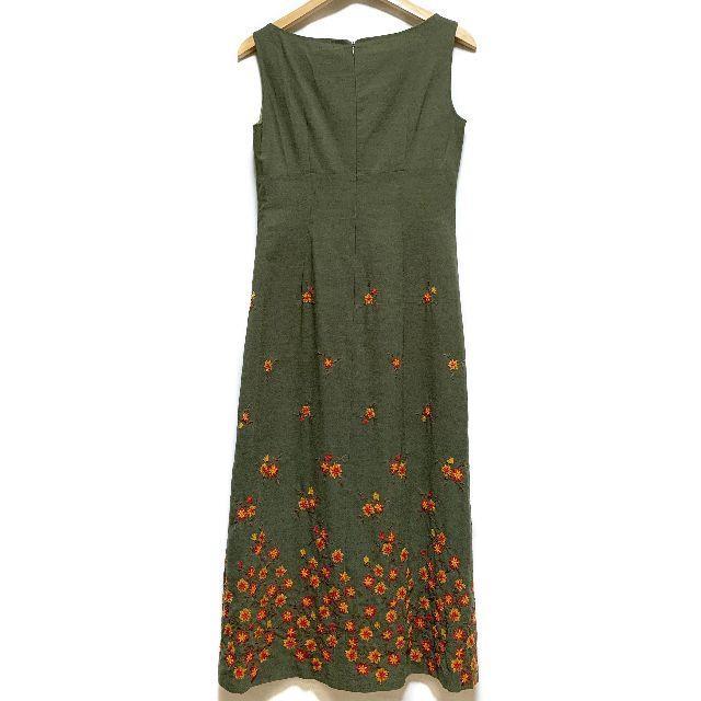 Sybilla(シビラ)のシビラ Sybilla ロングワンピース 花柄 お花 刺繍 ノースリーブ ワンピ レディースのワンピース(ロングワンピース/マキシワンピース)の商品写真