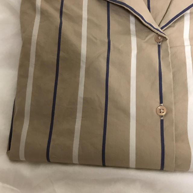 GU(ジーユー)のストライプ シャツ レディースのトップス(シャツ/ブラウス(半袖/袖なし))の商品写真