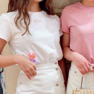 デイシー(deicy)のdeicy ロゴ刺繍 Tシャツ(Tシャツ(半袖/袖なし))