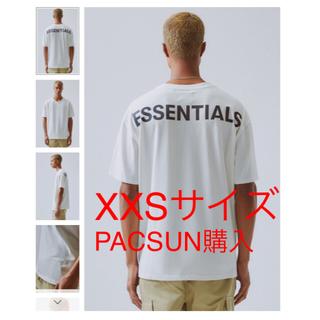 フィアオブゴッド(FEAR OF GOD)の希少 白 XXS 新作 19FW ESSENTIALS Boxy T-Shirt(Tシャツ(半袖/袖なし))