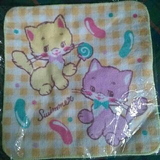 スイマー(SWIMMER)の☆スイマー タオルハンカチ 猫 新品未使用未開封(ハンカチ)