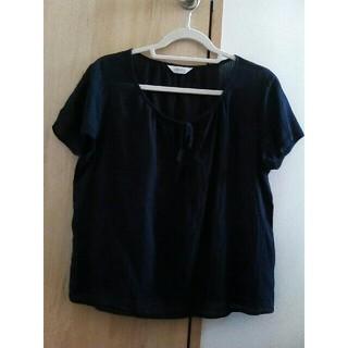 紺色ブラウス 写真確認(シャツ/ブラウス(半袖/袖なし))