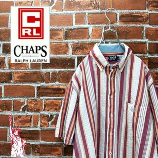 チャップス(CHAPS)の【激レア】チャップス☆90sマルチストライプ刺繍ロゴ シャツ(シャツ)
