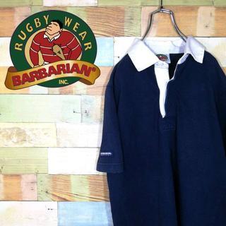 バーバリアン(Barbarian)の【激レア】バーバリアン☆カナダ製シンプル無地ラガーシャツ(ポロシャツ)