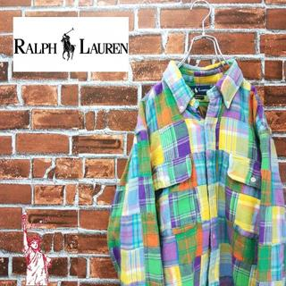 ポロラルフローレン(POLO RALPH LAUREN)の【激レア】ポロラルフローレン☆つぎはぎパッチワークBDネルシャツ(シャツ)