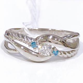 PT900 ブルーダイヤモンド リング(リング(指輪))