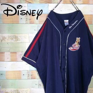 ディズニー(Disney)の【激レア90s】ディズニー☆プーさんビッグサイズ刺繍ロゴベースボールシャツ(シャツ)