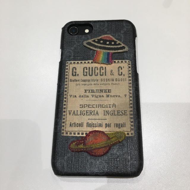ヒステリック グラマー iphone8 ケース / Gucci - グッチ iPhone7/8用 GG柄 UFO 土星ワッペン 正規店購入品の通販