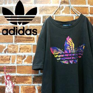 アディダス(adidas)のアディダスオリジナルス☆ビッグサイズ レアカラープリント カットソー(Tシャツ/カットソー(半袖/袖なし))