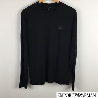 エンポリオアルマーニ(Emporio Armani)の美品 エンポリオアルマーニ 長袖カットソー ブラック サイズS(Tシャツ/カットソー(七分/長袖))