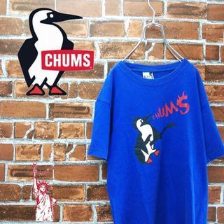 チャムス(CHUMS)のチャムス☆炎のブービーバードビッグロゴプリントギター Tシャツ(Tシャツ/カットソー(半袖/袖なし))