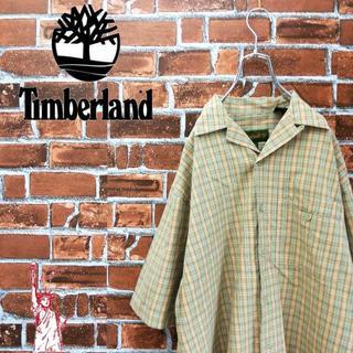 ティンバーランド(Timberland)のティンバーランド☆90s刺繍ロゴタグ付き チェックシャツ(シャツ)