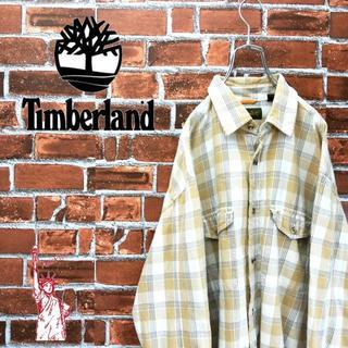 ティンバーランド(Timberland)のティンバーランド☆刺繍ロゴタグダブルポケット チェックシャツ(シャツ)