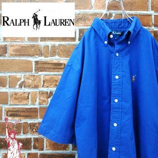 ラルフローレン(Ralph Lauren)のラルフローレン☆90sビッグサイズ刺繍ロゴ 半袖BDシャツ(シャツ)