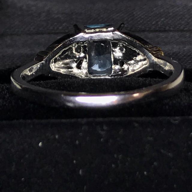 アクアマリンブルー &ジルコニア シルバーリング US10サイズ レディースのアクセサリー(リング(指輪))の商品写真