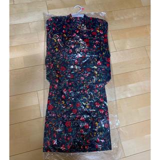 シマムラ(しまむら)の新品 帯付き 花柄 小花柄 浴衣 110 バースデイ(甚平/浴衣)