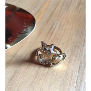 ツモリチサト(TSUMORI CHISATO)のツモリチサト 月・星・木星の宇宙モチーフのゴールドリング 指輪  超美品!(リング(指輪))
