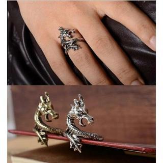 水龍リング ゴールド 単品 メンズリング(リング(指輪))