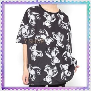 ファンキーフルーツ(FUNKY FRUIT)のブラック⭕再入荷⭕⭐️ドラハニ スケルトンテディ 総柄Tシャツ(Tシャツ(半袖/袖なし))