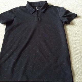 シマムラ(しまむら)の美品  ドライ  ポロシャツ  LLサイズ  黒(ポロシャツ)