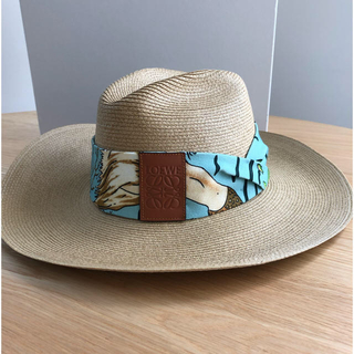 ロエベ(LOEWE)のLOEWE ロエベ パナマ帽 麦わら帽 イビザ(麦わら帽子/ストローハット)