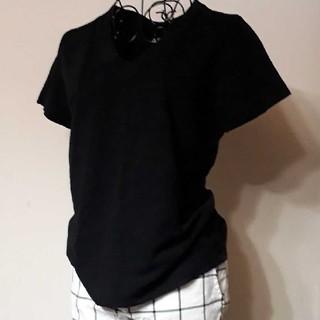 フォーティファイブアール(45R)の45R オンライン限定VネックTシャツ 黒 サイズ1(Tシャツ(半袖/袖なし))