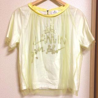 ランバンオンブルー(LANVIN en Bleu)の未使用 LANVIN en Bleu シフォンTシャツ(Tシャツ(半袖/袖なし))