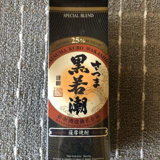 芋焼酎さつま黒若潮25゜パック  1.8l(1800ml) ×6本 (焼酎)